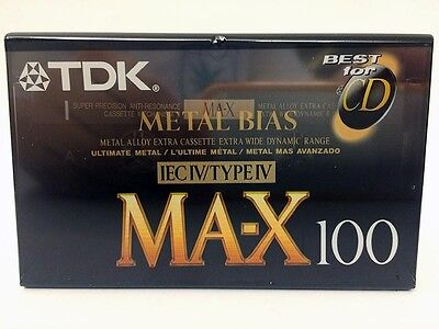 Tdk Ma-X 100 Blank Audio Cassette Tape New Rare 1992 Year Usa Made