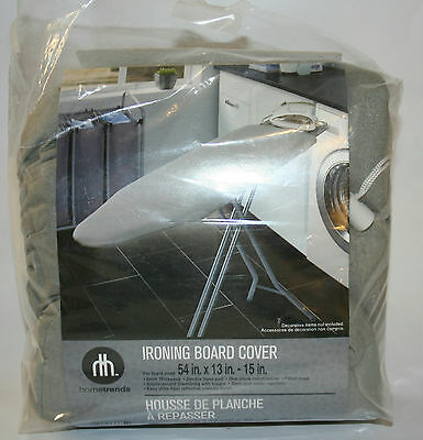 NEW OPEN PACKAGE - Hometrends Ironing Board Cover Color Grey - READ