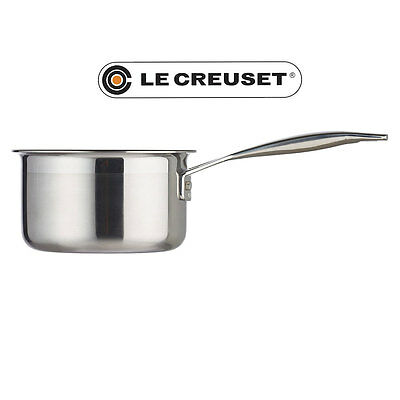 Le Creuset Milk Pan 14 cm 3-Ply Stainless Steel Non-Stick NEW