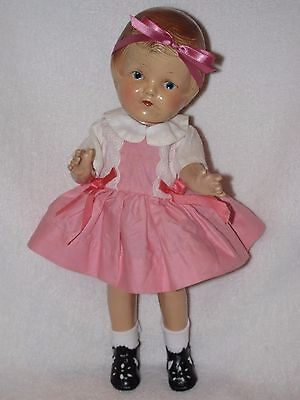 """12"""" Vintage Composition (R&B) Arranbee Patsy Doll Dressed In Pink"""