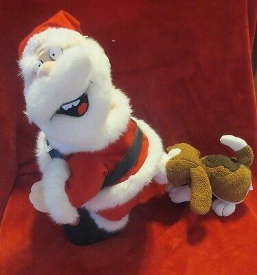 TL Toys Santa and Dog Biting His Butt Who Let The Dogs Out