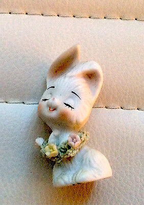 Bunny with flowers Porcelain figurine