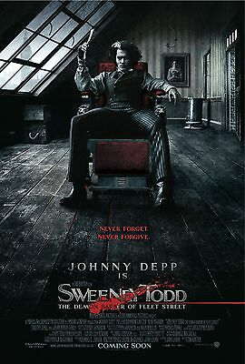 SWEENEY TODD 11x17 MOVIE POSTER COLLECTIBLE