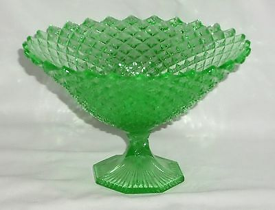 """Westmoreland ENGLISH HOBNAIL GREEN *6"""" COMPOTE*EH 218*"""
