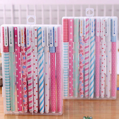 10pcs/lot School Stationery Gel Pens Colorful Cute Novelty Student Gift