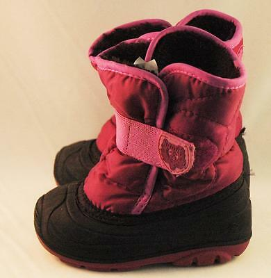 Kamik Snowbug Pink Snow Boots Size 7 Kids Youth