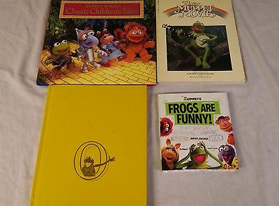 Lot 4 Muppets Books Muppet Show Muppet Movie + More!!