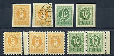 Weeda Estonia #28-30, 29 var VF MH/used 1919-20 issues, unlisted private perf
