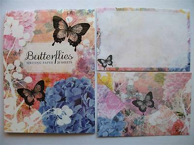 Writing Note Pad Paper And Envelopes New Stationery Set Butterflies For Letters