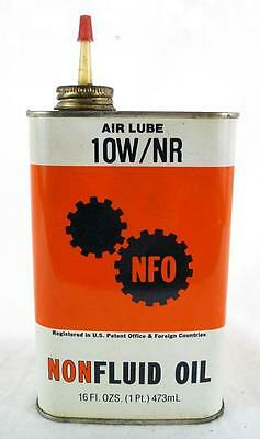 Vintage Air Lube Non Fluid Oil Metal Oil Can Advertising