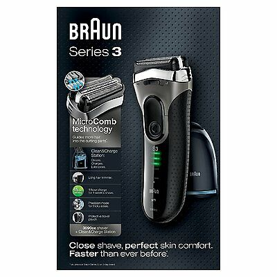 Braun Series 3 3090cc-4 Electric Shaver with Cleaning and Charge Station