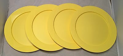 """Tupperware Stackable Dinner Plates In Yellow 9.5"""" Snap Together Plates Set of 4"""
