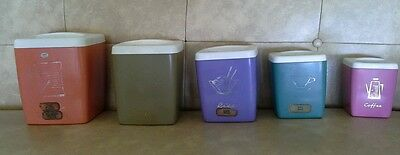 Vintage Cannisters x5