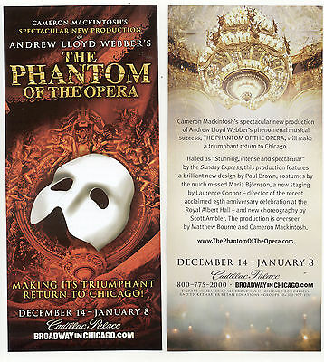 The Phantom Of The Opera Broadway In Chicago 2016-2017 Advertising Flyer