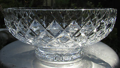 Stunning Webb Corbett Diamond Cut Crystal Large Master  Bowl