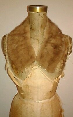 Vintage Light Tan Mink Fur Collar Add to Collar