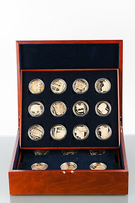 18 X £5 Golden Steam Age Silver Proof Five Pound Coin Collection Royal Mint Uk