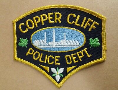 Copper Cliff, Canada Police Shoulder Patch