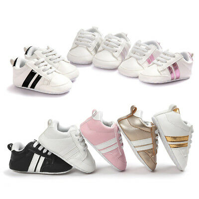 Baby Soft Sole Moccasin Anti-skid PU Leather Shoes Infant Boy Girl Toddler 0-18m