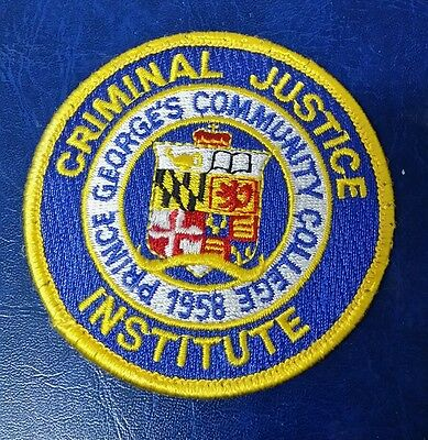 Prince George's Community College, Maryland Criminal Justice Institute Patch Md