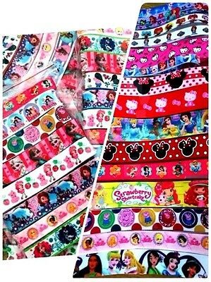 10 yards grosgrain character ribbon mix pack assorted character value Bundle LOT