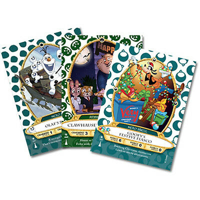 Disney's Sorcerers of The Magic Kingdom, Goofy, Clawhauser, Olaf exclusive cards