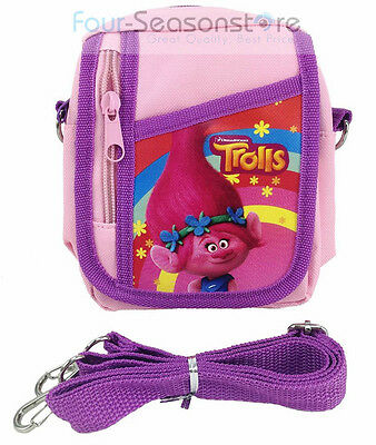 Trolls Poppy Light Pink Camera Pouch Bag Wallet Purse with Shoulder Strap