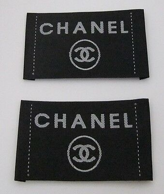 Lot Of 2 Vintage Chanel Clothing Label Tag