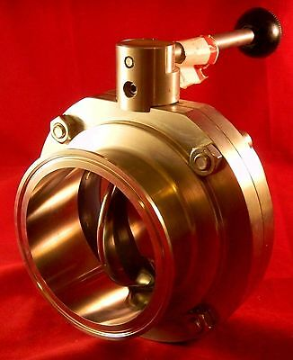 "Alfa Laval Tri-Clover 4"" SS 316 Butterfly Valve  NEW Free Shipping"
