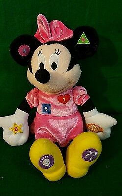 Disney Interactive Minnie Mouse Learning Pal Bow-Tique Plush Clubhouse Junior