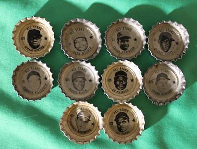 Vintage All Stars Coca Cola Products Baseball Player Bottle Caps Set Of 10