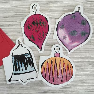 4 Andy Warhol Die Cut Ornament Christmas Holiday Cards - Group B