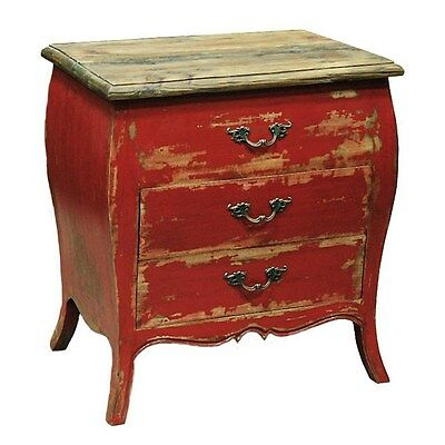 Silkroute NS1206-R Nora Red Nightstand