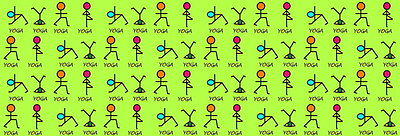 """034 YOGA - Fit Exercise Work Out 70""""x24"""" Poster"""