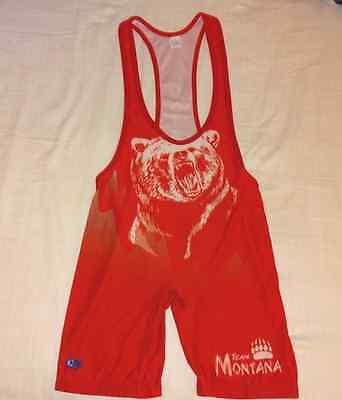 Team Montana Low-Cut Wrestling Singlet - Adult Large AL L - Cliff Keen
