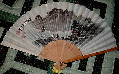 5 Older Paper Fans from China & Japan