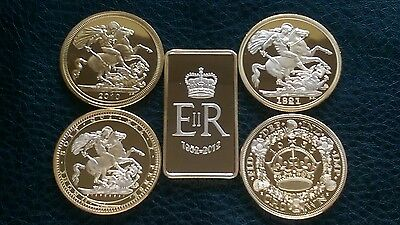 Commemorative 24K G/plated Coins/bars British Royalty Kings/queen Crown Coins