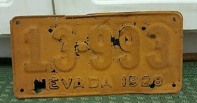 1928 Nevada license plate VERY THIN