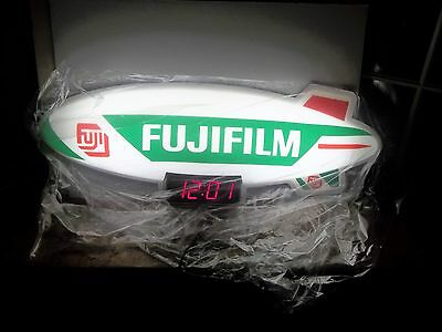 "Rare Fuji Film Lighted Blimp Sign & Clock 35"" New Old Stock.. mint"