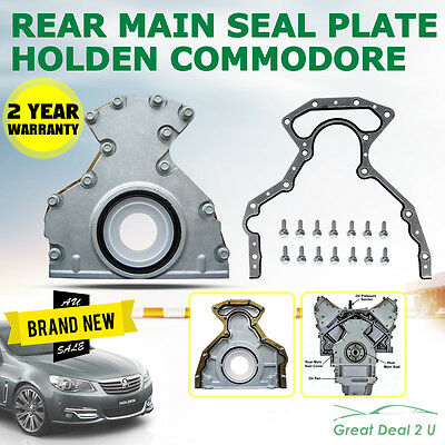 Holden Commodore Rear Main Seal & Plate VT VX VY VZ 5.7L 6.0L V8 LS1 LS2 GM
