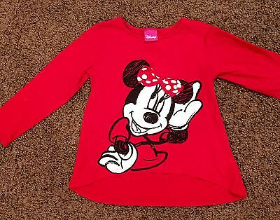 Girls Age 2-3 Minnie Mouse Top Disney Florida . Lovely Good Condition Christmas