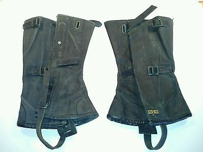 Vietnam Era Army Gaiters, Issued, Named with Broad Arrow Mark