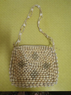 Retro Handbag  and Coin Purse Vintage Made of Shells Good condition