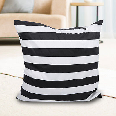 45 * 45cm Practical Black and White Striped Soft Sofa Pillow Cover Decor House