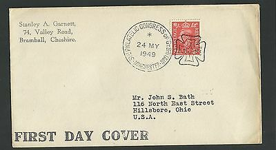 Great Britain - Kgv1 First Day Cover To Usa - 1 Stamp - Z695