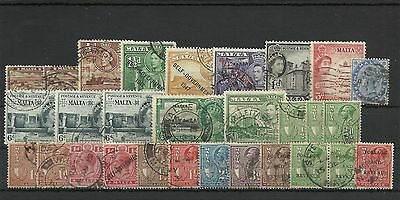 Philately Stamps Malta assorted stamps used canceled