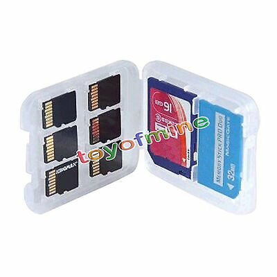 1Pcs 8-Slot Micro SD TF SDHC MSPD Memory Card Protecter Box Storage Case Hold