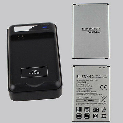 OEM 3000mAh BL-53YH Battery /Travel Wall Cradle Battery Charger Dock For LG G3