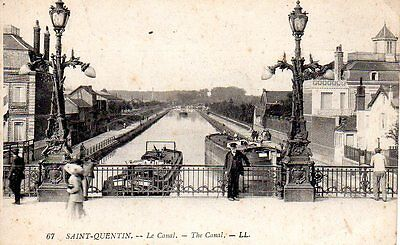 02-CPA-St Quentin-Le Canal-Animation-