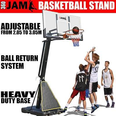 360 JAM Height Adjustable Heavy Duty Portable Basketball Hoop Ring Stand System
